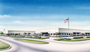 Northpark Central II, an office and production warehouse building is in development by J. A. Billipp