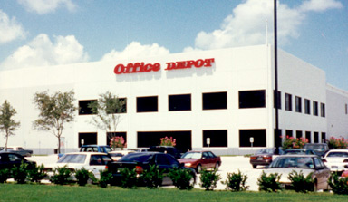This Office Depot industrial office and distribution facility was developed by J. A. Billipp